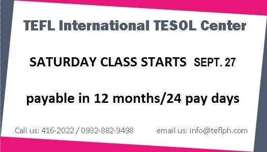 TEFL International weekend classes