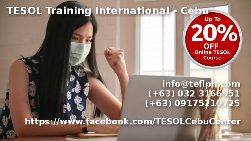 TESOL Training International in Cebu, Philippines. 120 Hour Discounted Online TESOL Course
